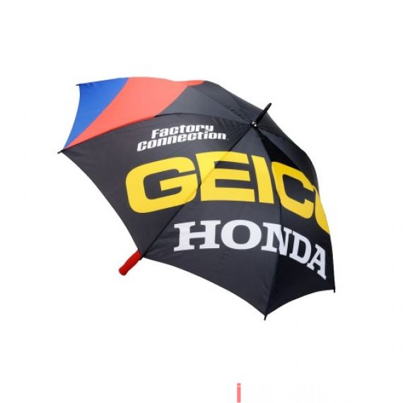 100% - ACCESSORIES - STRIKE STANDARD UMBRELLA GEICO HONDA - BLACK