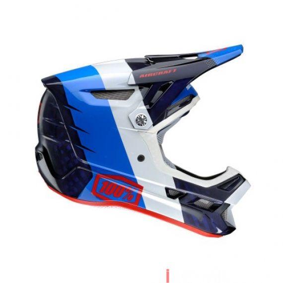 100% - AIRCRAFT - R8 BLUE CARBON (MIPS) Size XL