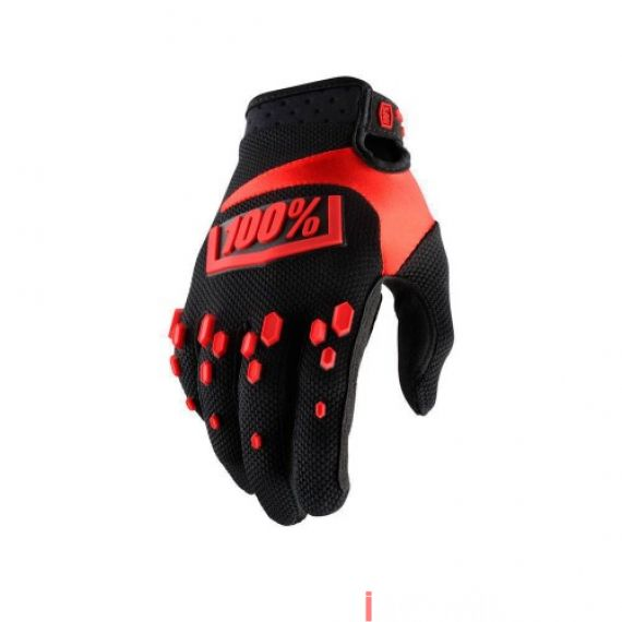 100% - AIRMATIC - BLACK RED Size M