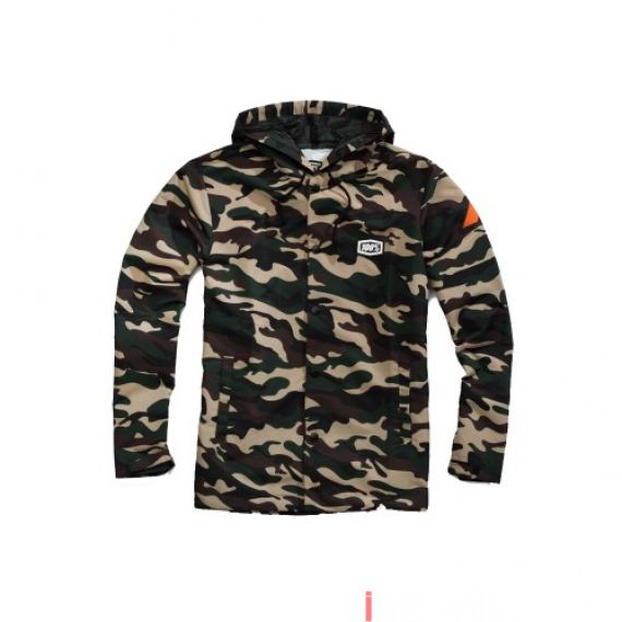 100% - FLEECE - APACHE SNAP JACKET HOODED - CAMO Size XL