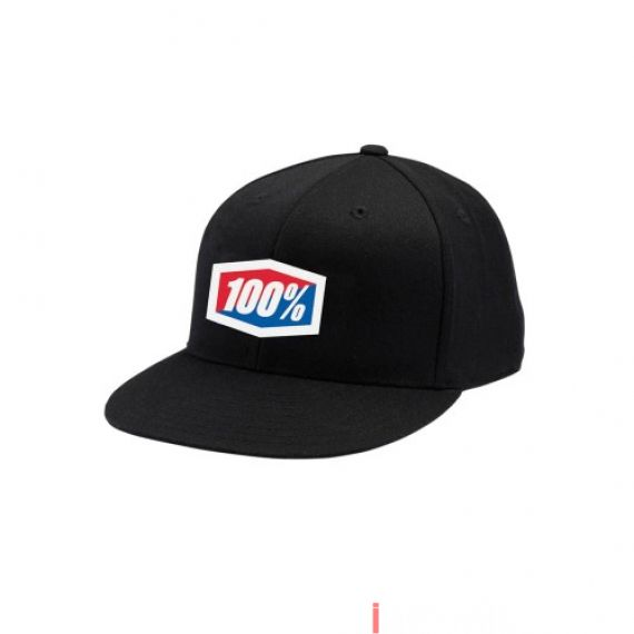 100% - HAT - ESSENTIAL J-FIT FLEXFIT BLACK
