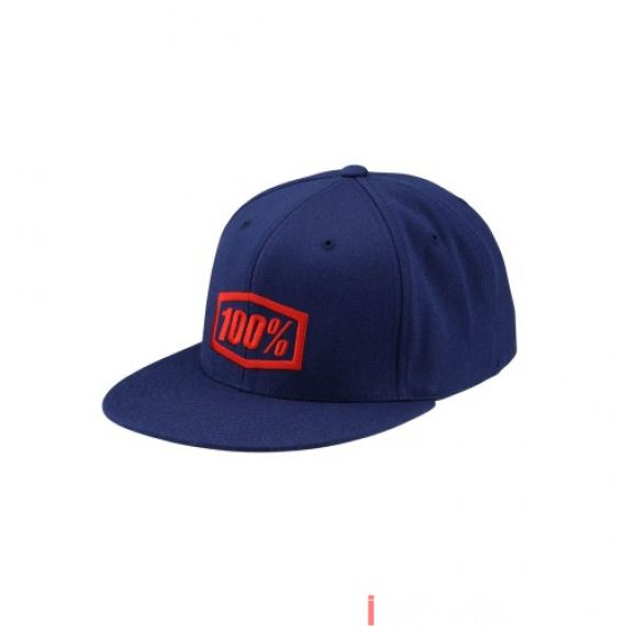 100% - HAT - ESSENTIAL J-FIT FLEXFIT BLUE