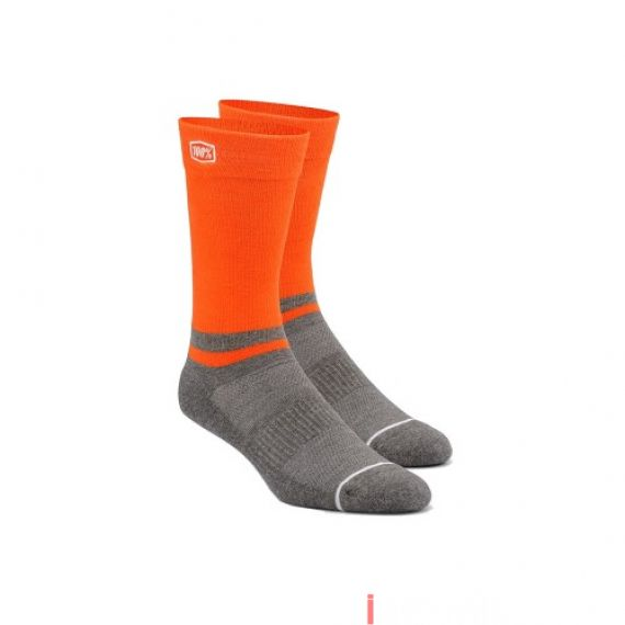100% - SOCKS - BLOCK ATHLETIC SOCKS - ORANGE Size 40