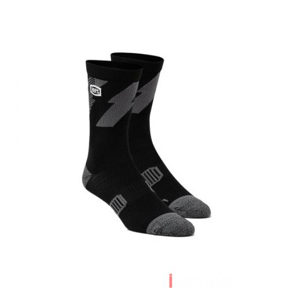 100% - SOCKS - BOLT PERFORMANCE SOCKS - BLACK Size 42