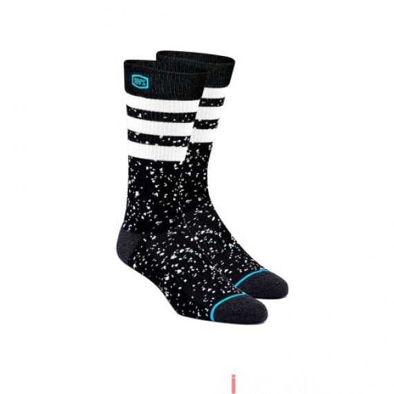 100% - SOCKS - COSMOS ATHLETIC SOCKS - BLACK Size 42