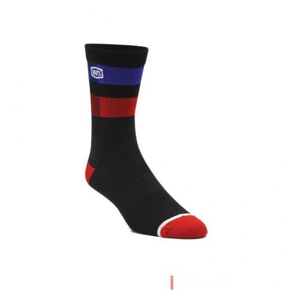 100% - SOCKS - FLOW PERFORMANCE SOCKS - BLACK Size 42