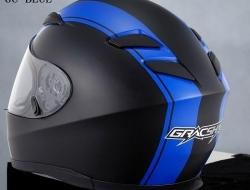 Gracshaw Helmet G 9999 Jet/Blue XL