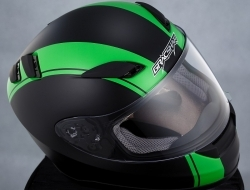 Gracshaw Helmet G 9999 Jet/Green XL
