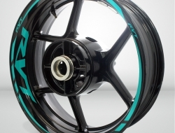 Honda RVT Motorcycle Rim Wheel Decal Accessory Sticker Color=Matte Turquoise(MT)