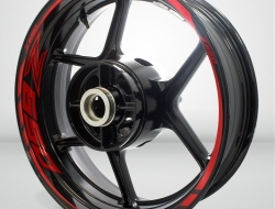 Kawasaki Z650 Motorcycle Rim Wheel Decal Accessory Sticker Color=Gloss Red(GR)