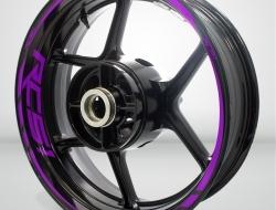 Honda RC51 Motorcycle Rim Wheel Decal Accessory Sticker Color=Matte Purple(MP)