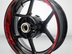 Kawasaki Z900 Motorcycle Rim Wheel Decal Accessory Sticker Color=Gloss Red(GR)