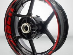 Motorcycle Rim Wheel Decal Accessory Sticker for Ducati 1198sp Color=Gloss Red(GR)