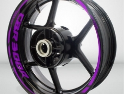 Motorcycle Rim Wheel Decal Accessory Sticker for Honda CBR 300R Color=Matte Purple(MP)