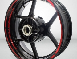 Motorcycle Rim Wheel Decal Accessory Sticker for Honda VFR 1200X Crosstourer Color=Gloss Red(GR)