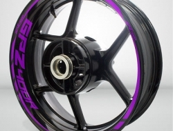 Motorcycle Rim Wheel Decal Accessory Sticker for Kawasaki GPZ 400R Color=Matte Purple(MP)