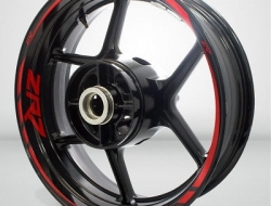 Motorcycle Rim Wheel Decal Accessory Sticker for Kawasaki ZR7 Color=Gloss Red(GR)