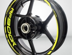 Motorcycle Rim Wheel Decal Accessory Sticker for Suzuki RF 900R Color=Matte Yellow(MY)