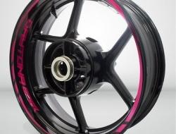 Motorcycle Rim Wheel Decal Accessory Sticker for Triumph Daytona 675R Color=2 Tone Cranberry(EC)