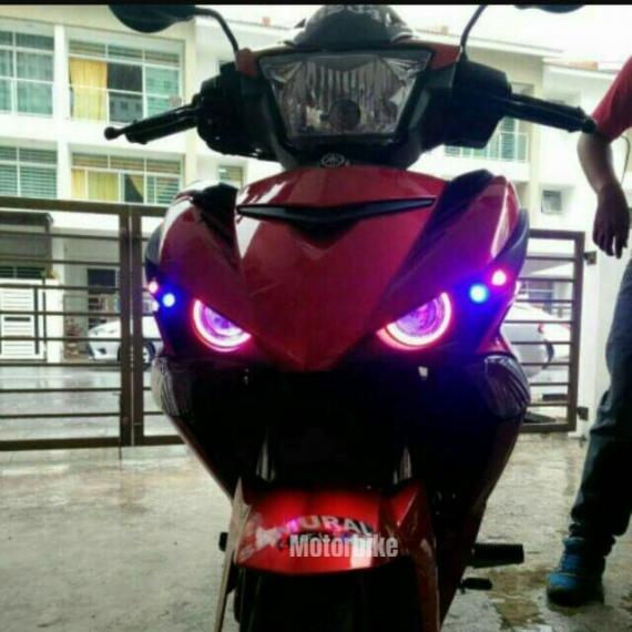 Bulb Led Y15zr: Headlight Eagle Eye Yamaha Y15ZR (Pink/Blue)