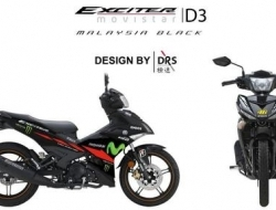 YAMAHA Y15ZR STICKER EXCITER MOVISTAR DRS AAA GRED - BLACK