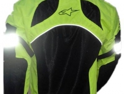 Alphinestars Ridding Safety Jacket with Full Padding (lengan,bahu,belakang 5 pcs) - Size XS