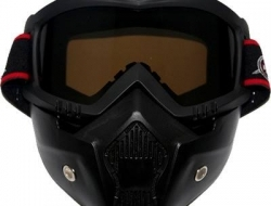 Antman helmet Riding Mask (ori) - tea brown
