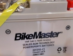 Bikemaster AGM motorcycle battery DTZ7S-C