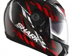 Shark S700 Fullface Helmet (Black/Red) - Size S