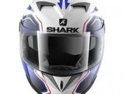 Shark S700 Fullface Helmet (White/Blue) - Size M