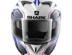 Shark S700 Fullface Helmet (White/Blue) - Size XL