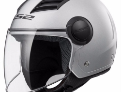 LS2 OF562 AIRFLOW GLOSS SILVER Motorcycle Helmet