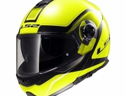 LS2 FF325 STROBE CIVIK HI-VIS YELLOW BLACK Motorcycle Helmet