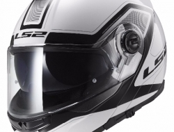 LS2 FF325 STROBE CIVIK WHITE BLACK Motorcycle Helmet