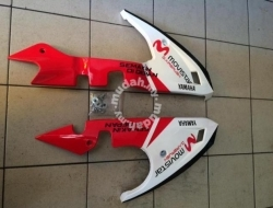 Belly Pan  Engine Cover  Sampan Yamaha Y15ZR  MX King  Sniper 150 (White/Red)