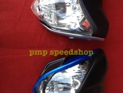 Headlamp Byson with Headlamp Cover (Airbrush) Lent Auto (Red)