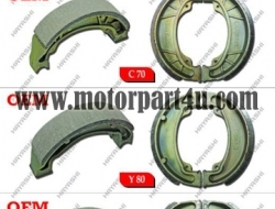 BRAKE SHOE FOR ALL MOPED MODELS