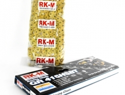 RK-M DRIVE CHAIN 415HSBT SOLID GOLD