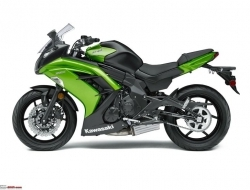 kawasaki ninja 650 abs new model with 15 FOC (Green)