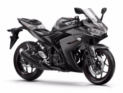 Yamaha new r25 with slip on exhaust 14 FOC (Black)