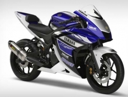 Yamaha new r25 with slip on exhaust 14 FOC (Blue)