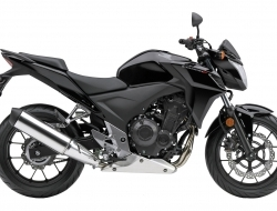 Honda cb500f with slip on exhaust 16 foc (Black)