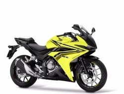 Honda cbr500r with slip on exhaust 16 foc (Yellow)