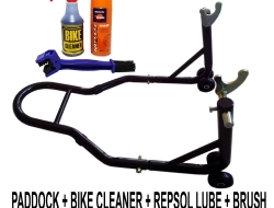 Package Jimat Paddock Stand Bike Cleaner Repsol Lube Brush