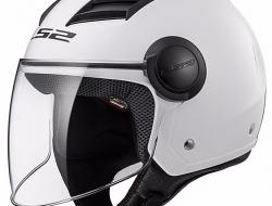 LS2 OF562 AIRFLOW SOLID WHITE Motorcycle Helmet