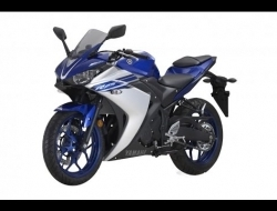 new color yamaha yzf- r25 - Blue and Black