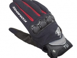 Komine 3D Protect Mesh Gloves - Black/Red - Size XS