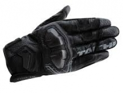 RS Taichi Armed Leather Mesh Glove - Black - Size XXS