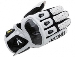 RS Taichi Armed Leather Mesh Glove - White - Size M
