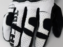 RS Taichi Armed Leather Mesh Glove - White - Size XL